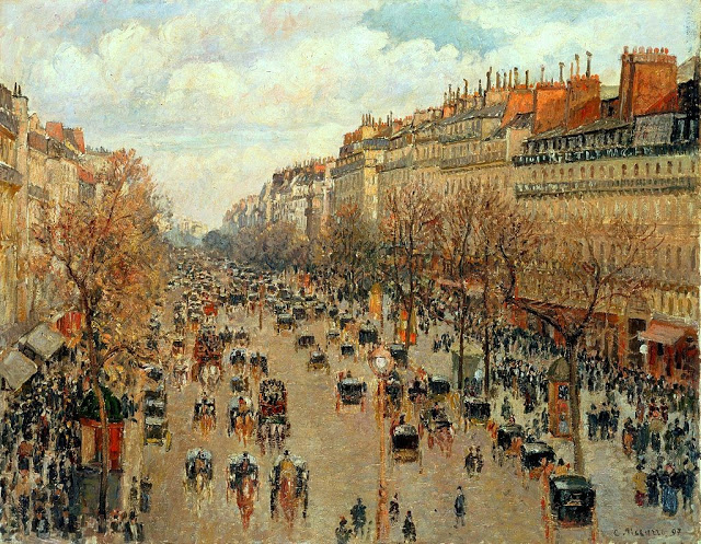 "Camille_Pissarro_-_Boulevard_Montmartre_-_Eremitage ""Impressió: sol naixent"" - Impressionisme (1era part)"