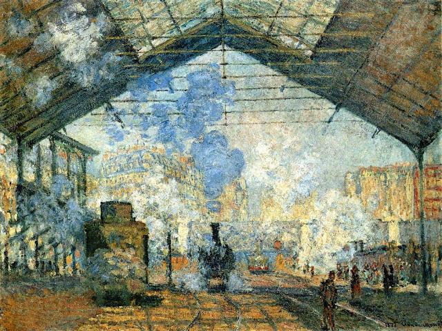 """La_Gare_Saint-Lazare """"Impressió: sol naixent"""" - Impressionisme (1era part)"""