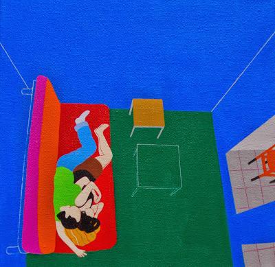 Lasaladeestar27x27cmacrílicsobretela El mundo de Inma Sáenz - pintura