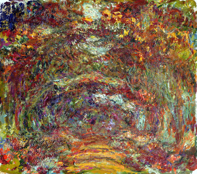 the-rose-path-giverny-claude-monet Els grans pintors de l'Impressionisme (2a part)