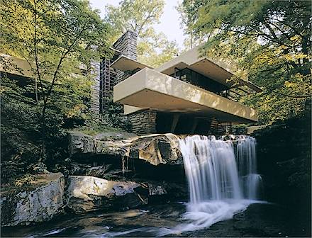 artxtu-franklloydwright-lacasadelacascada Alvar Aalto i l'Arquitectura Orgànica
