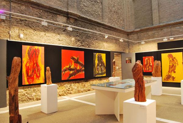 """artxtu-expooriolsabat2 Oriol Sàbat - """"...el foc, l'espai i el temps fet a miques"""""""