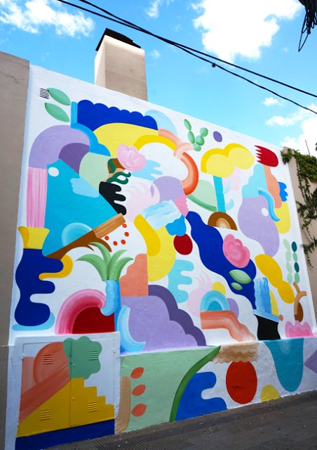 artxtu-minahamada3 Zosen y Mina Hamada - Pintura mural