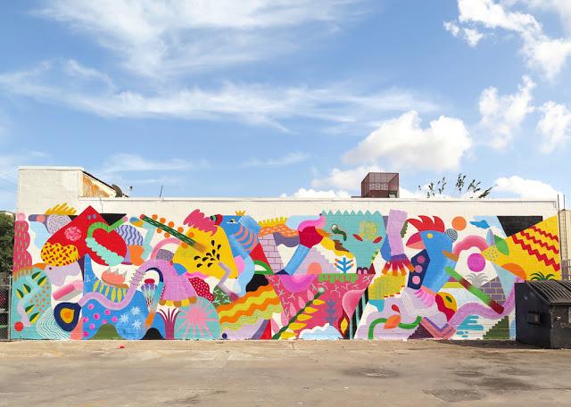 artxtu-minahamadayzosen1 Zosen y Mina Hamada - Pintura mural