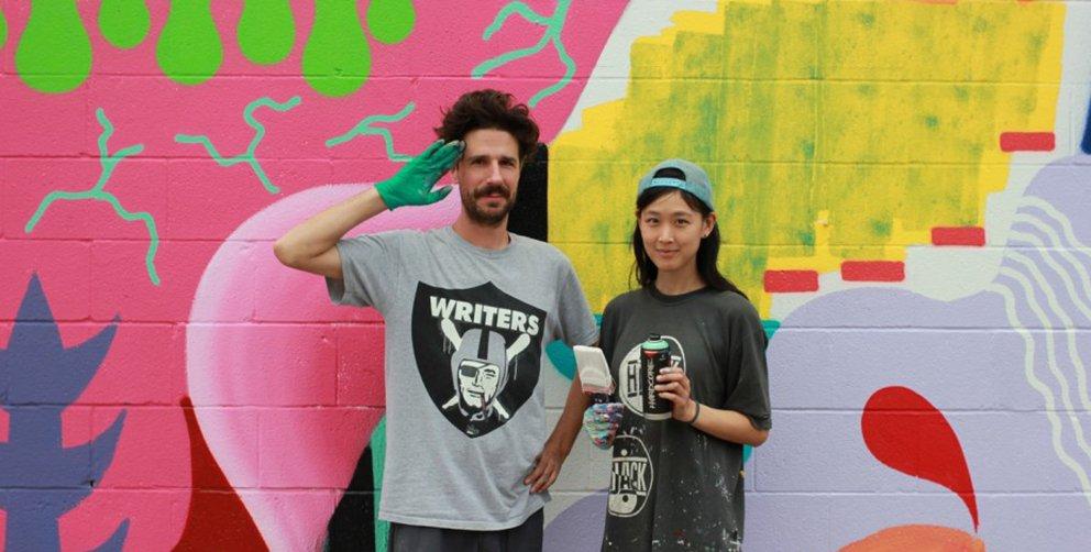 Zosen y Mina Hamada – Pintura mural