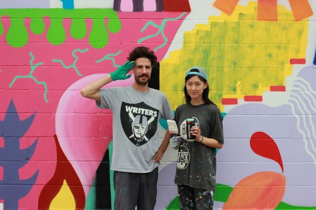 artxtu-retratzosenyminahamada2 Zosen y Mina Hamada - Pintura mural