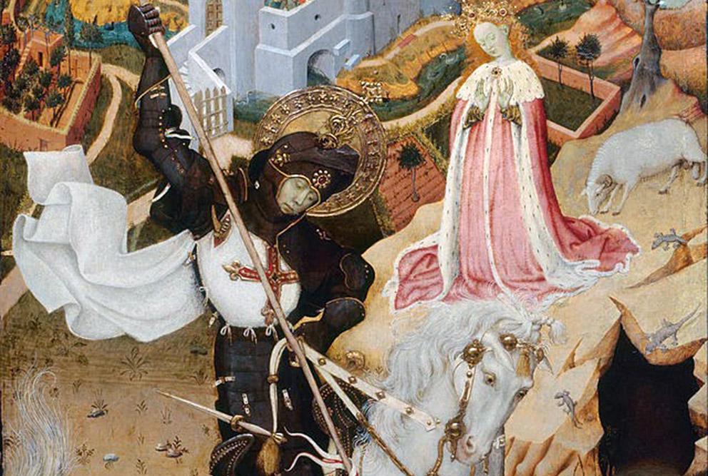 Sant Jordi matant el Drac