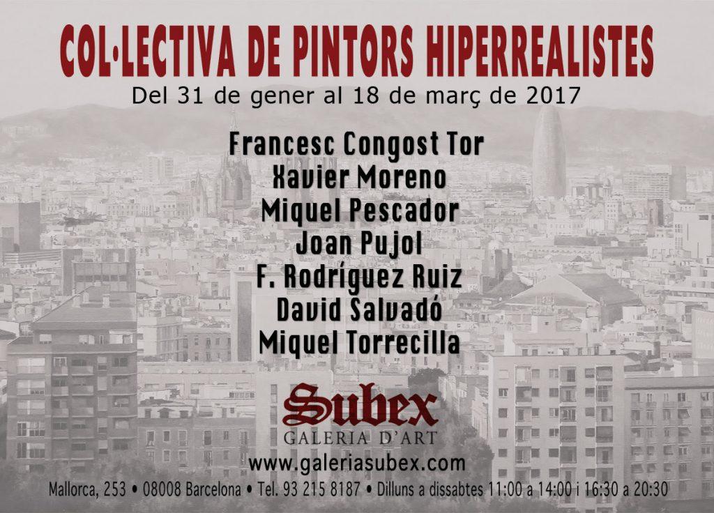 artxtu-subex-1024x736 Col·lectiva de pintors Hiperrealistes a la Galeria Súbex