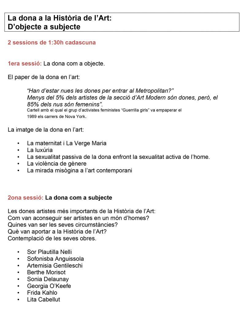 Programa-La-dona-dobjecte-a-subjecte-812x1024 Formació a la Galeria Subex
