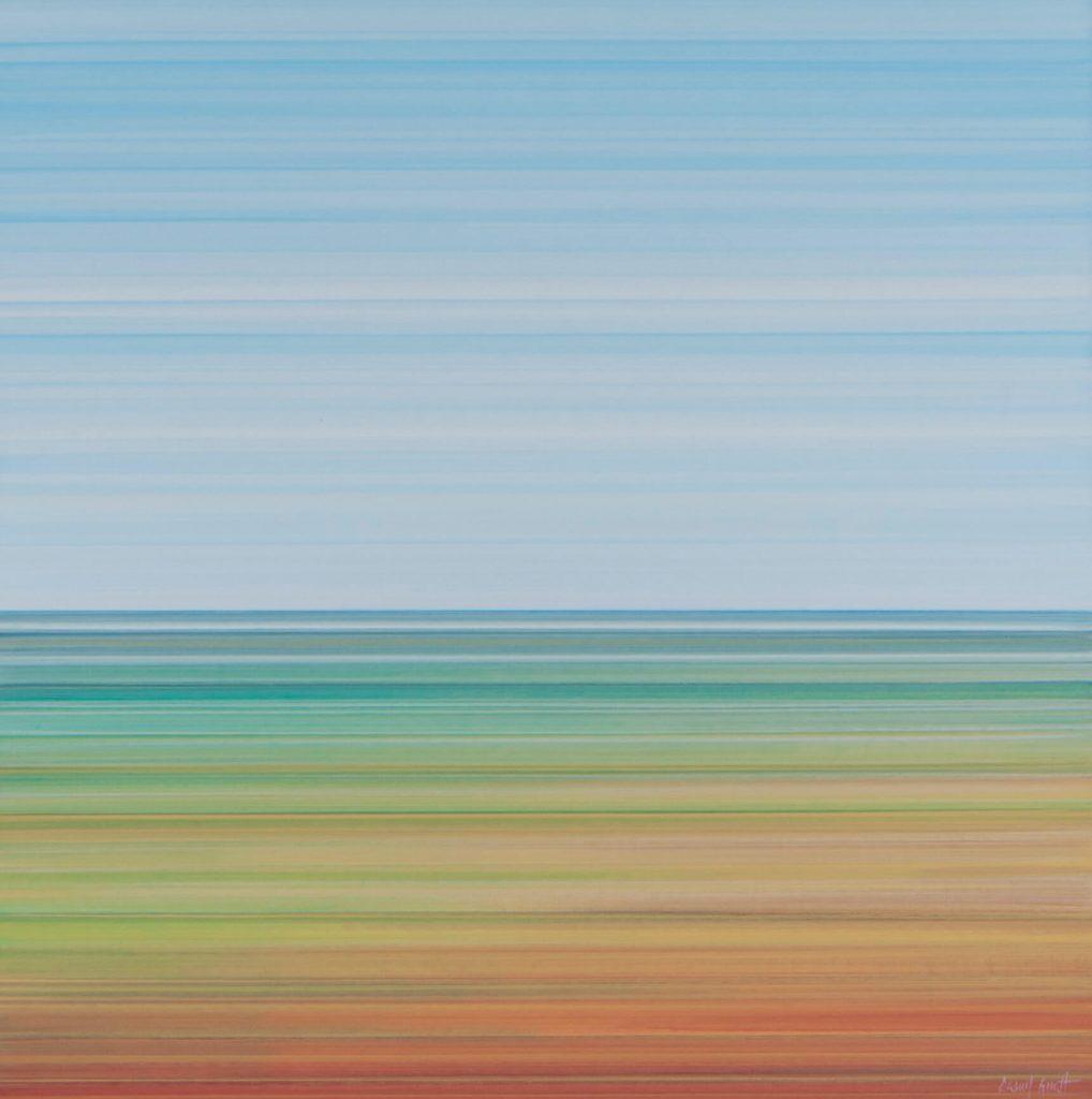 """PAISATGE-LINEAL-09-80x80-1018x1024-1018x1024 Camil Giralt - """"L'abstracció i la síntesi de l'horitzó"""""""