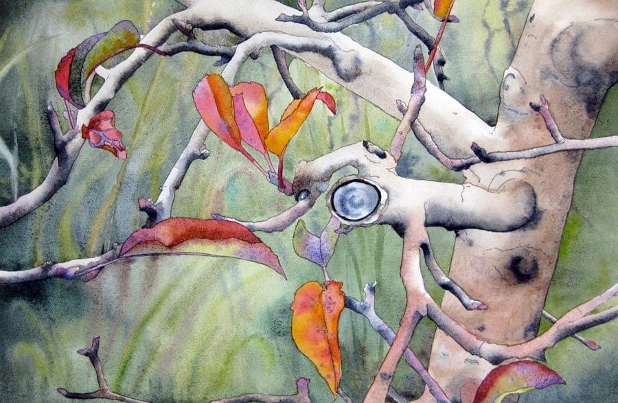 Otono-2013-Acuarela-50-x-70-cms-2013 Paula Leiva - Màgica singularitat d'inspiració japonesa