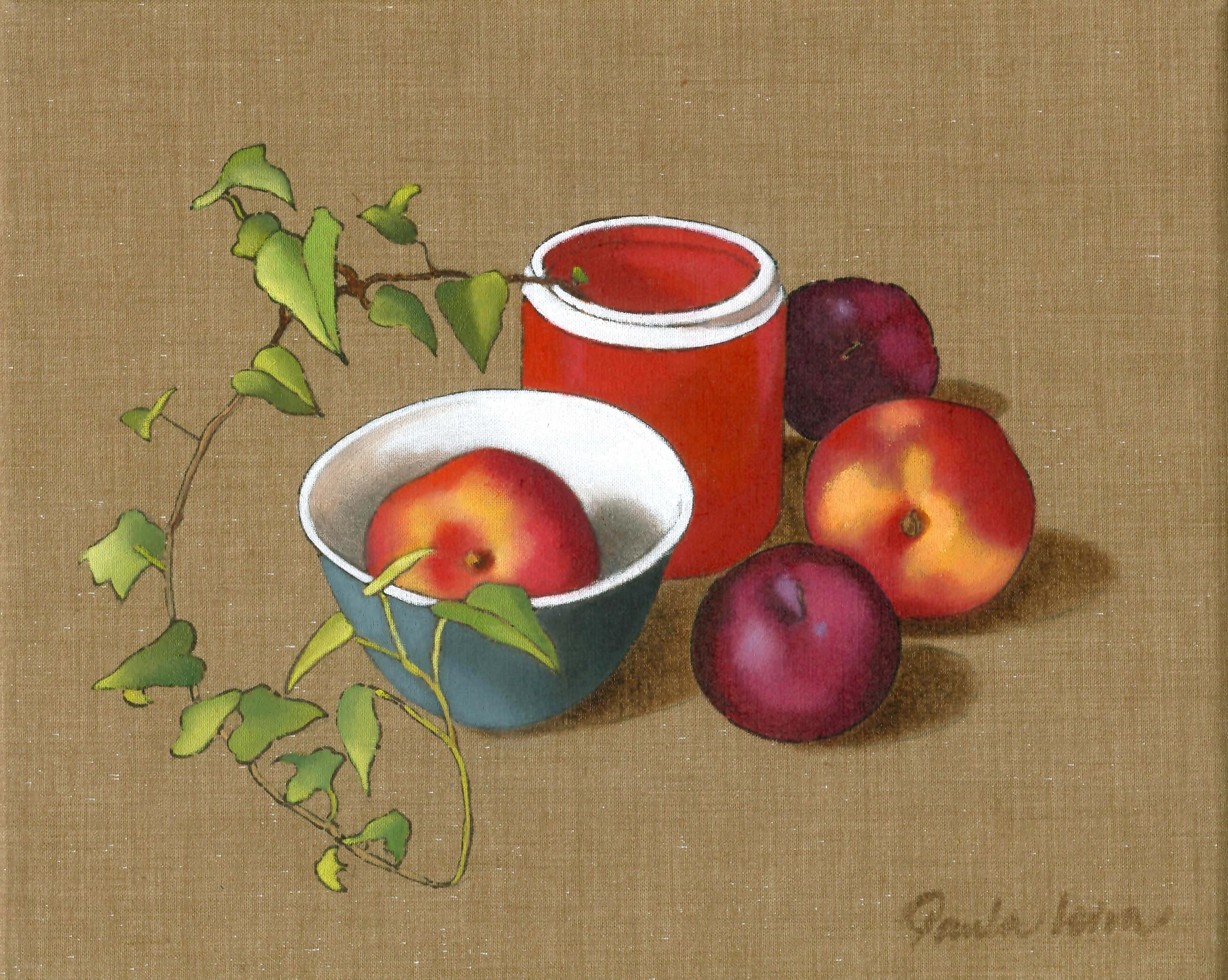 Leiva-GrangerPaula-Nectarinas-y-ciruelas.-2007Óleo-sobre-tela-22-x-27-cm.-3 Paula Leiva