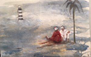 El-far-i-el-mar-30x40-Mixta-sobre-paper-300x188 Cristina Cabané