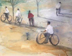 Passeig-amb-bici-36x30-Mixta-sobre-paper-1-300x233 Cristina Cabané