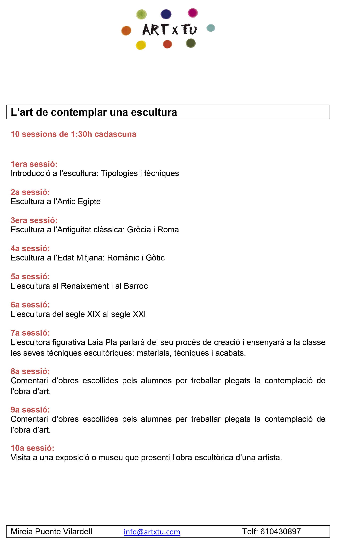 Lescultura-programa Prueba calendario