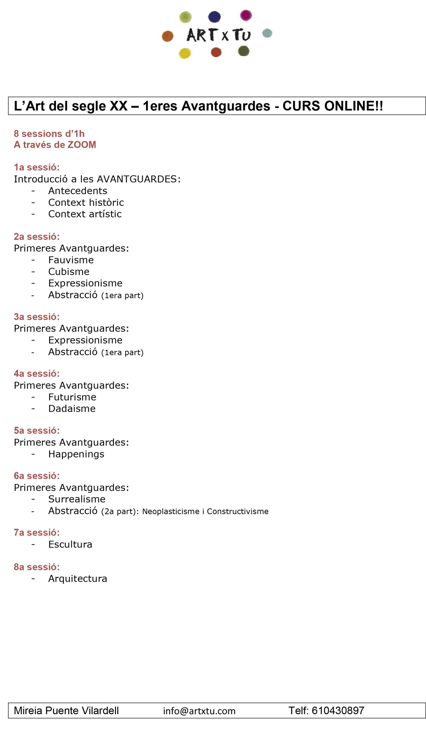 Programa-Art-del-segle-XX-1eres-Avantguardes-scaled Formació