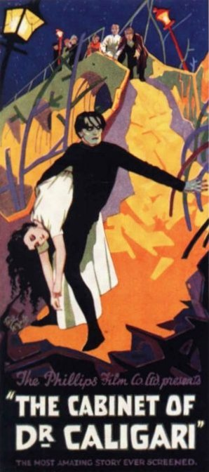 CABINETOFDRCALIGARI-poster Expressionisme Alemany
